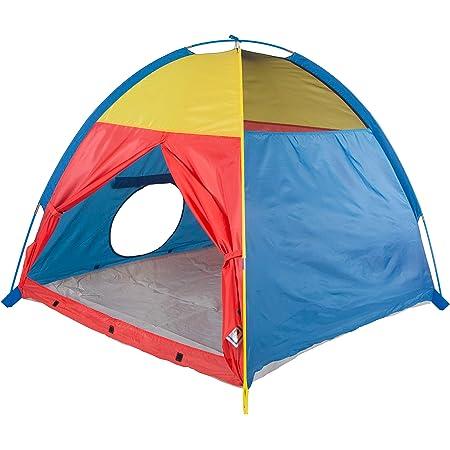 Pacific Play Tents Kids 'Me Too' Tienda de campaña para Interior/Exterior Divertida – 48 x 48 x 42 Pulgadas, Multicolor, Tienda, Rojo, Azul, Amarillo, 48 x 48 x 42 Inches