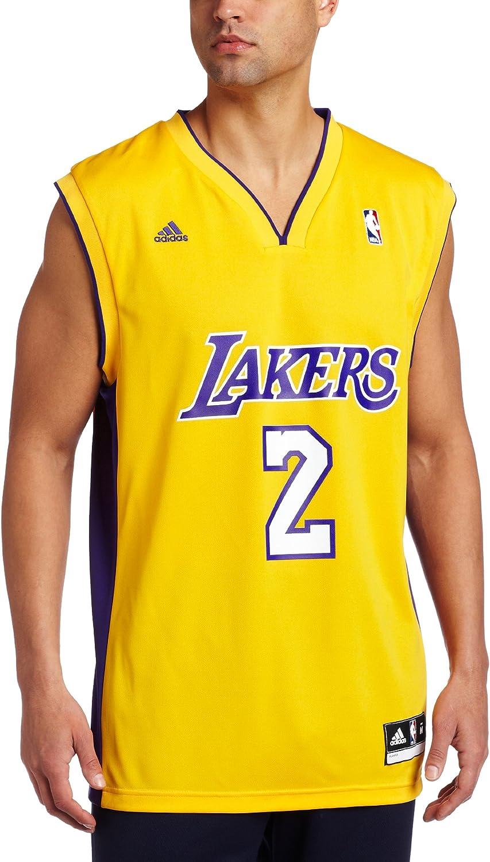 Amazon.com : Los Angeles Lakers Derek Fisher Men's Gold NBA ...
