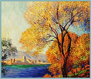 Orenco Originals Antibes View of Salis by Claude Monet Counted Cross Stitch Pattern