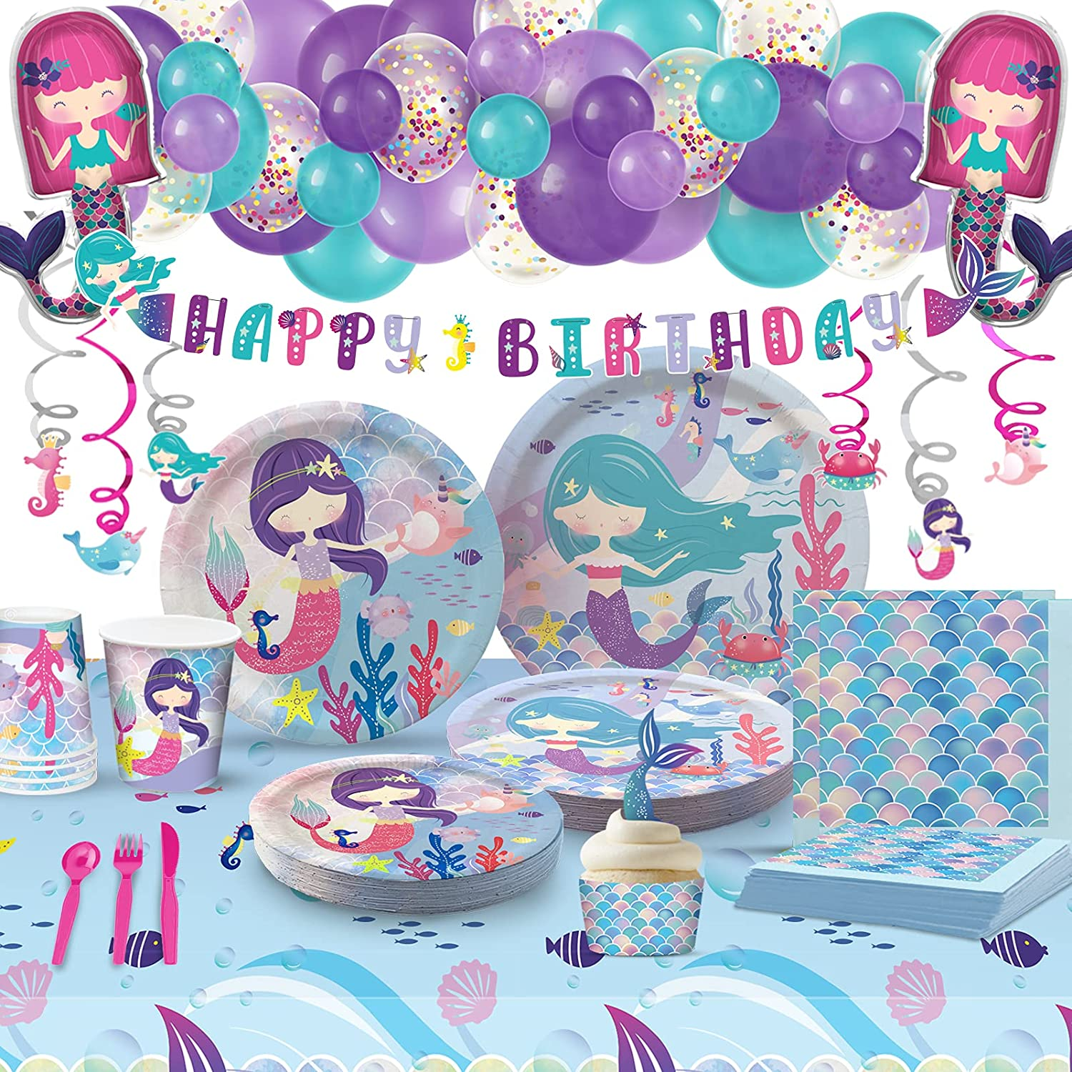 My Greca Mermaid Party Supplies Birt 20 We OFFer at cheap prices - Set Outlet SALE Serves