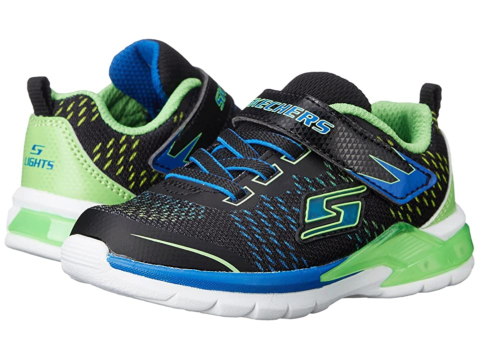 SKECHERS KIDS Erupters II Lava Arc 90551N Lights (Toddler) (Black/Blue/Lime) Boy