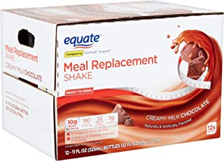 PACK OF 4 - Equate Creamy Milk Chocolate Meal Replacement Shake, 12 ct