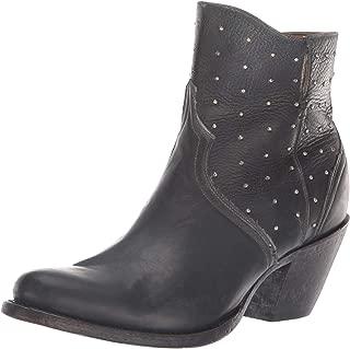 حذاء حريمي Lucchese Bootmaker Harley متوسط الساق، أسود من الحجر, 10 B US