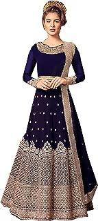Indian/Pakistani Indian Wear & Ethnic Wear Anarkali Salwar Suit Anarkali Gown for Women Violate 5801