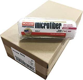 """Wooster Brush R525 9 Inch Microfiber 3/4"""" Nap Roller Cover - Pack of 12"""