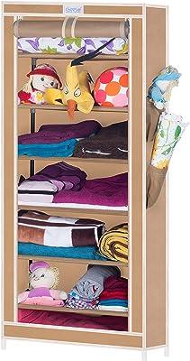 Cbeeso Metal Foldable Seven Layer Shoe Cabinet (Finishing Colour-Beige)