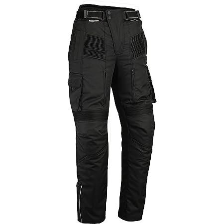 Alle Gr/ö/ßen Textil Wasserdicht Motorradhose mit Protektoren Schwarz Cordura Texpeed