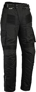 Bikers Gear UK Motocicleta de Pantalones Cargo–Protectores Después de CE 1621–1–Resistente al Agua–Cordura & Spandex–Negro