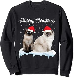 Merry Christmas Santa Ragdoll Siamese Cat Christmas Gift Sweatshirt