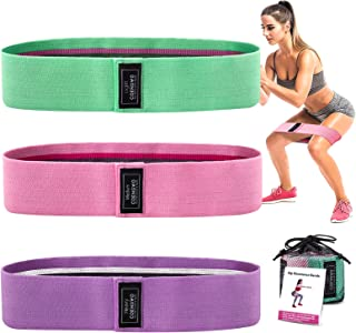 COENGWO Resistance Bands Booty Band for Workout, 3 Fabric Resistance Bands Set for Legs and Butt, Non-Slip Workout Exercis...