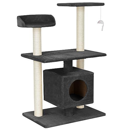 [en.casa] Rascador Para Gatos Árbol Para Gatos Trepar Sisal Juguetes - 60x40x95cm