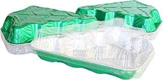 Disposable Aluminum Christmas Tree Cake Pan with Clear Snap on Lid #9501X (10)