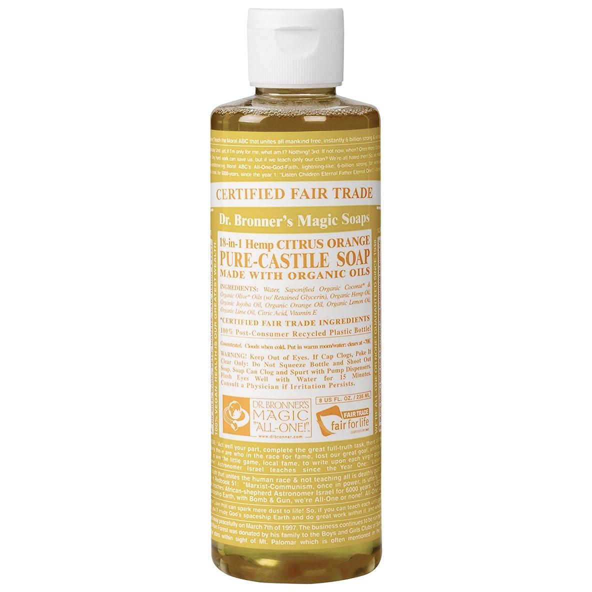 ピーク香港遵守するDrのブロナー有機シトラスカスティーリャ液体石鹸237ミリリットル (Dr Bronner) (x6) - Dr Bronner Organic Citrus Castile Liquid Soap 237ml (Pack of 6) [並行輸入品]