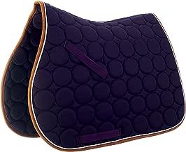 Roma Circle Quilt AP Saddle Pad Purple/White/Orang