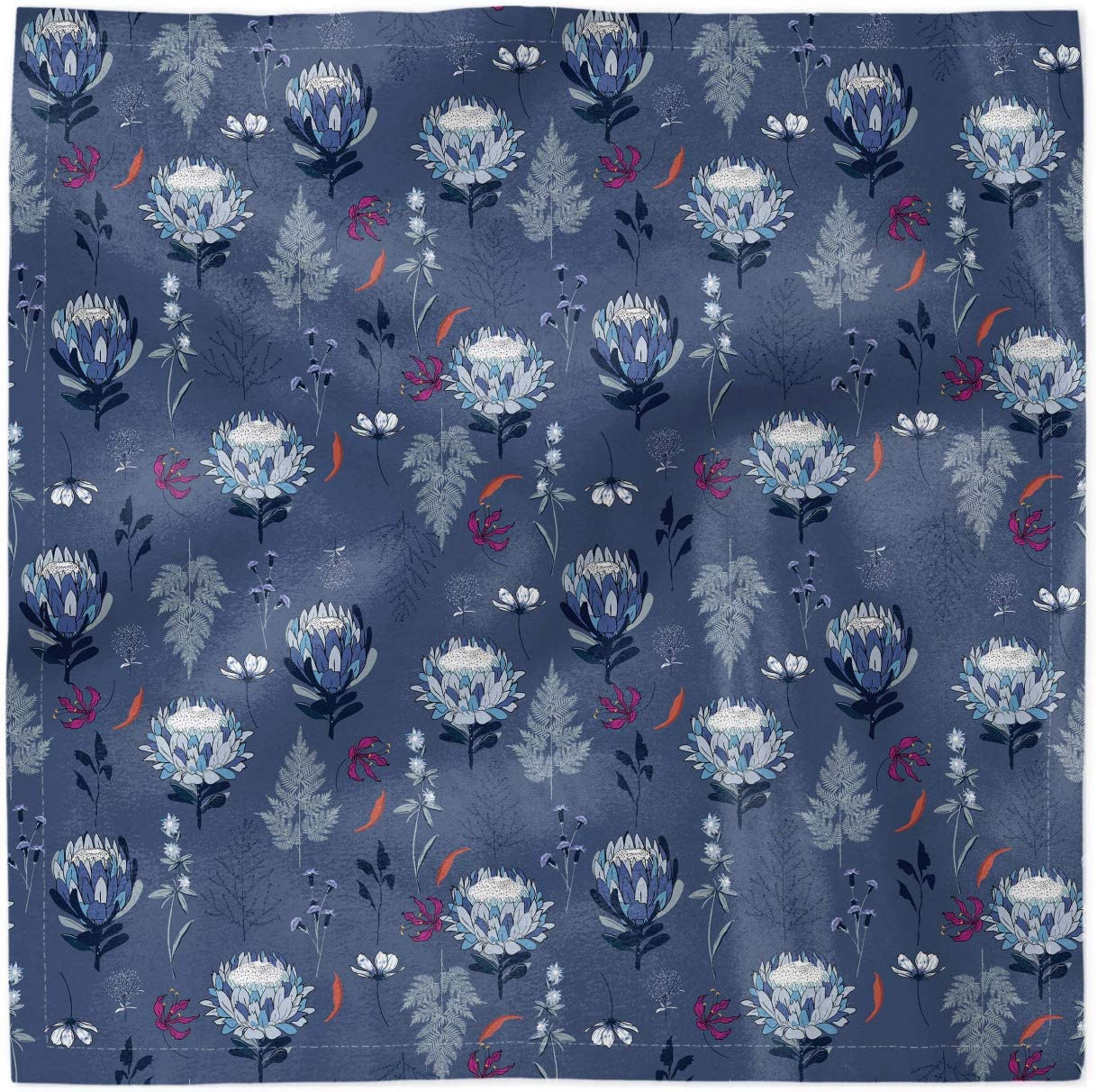 Ambesonne Decorative Satin Napkins trend rank Set Blue Botanical Soft 4 We OFFer at cheap prices of