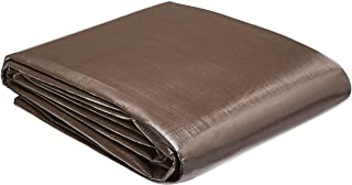 AmazonCommercial Multi Purpose Waterproof Poly Tarp Cover, 10 X 15 FT, 10MIL Thick, Brown/Silver, 10-Pack