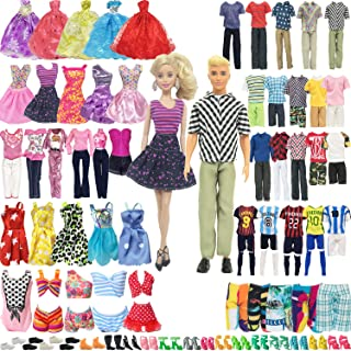 SOTOGO 56 Pieces Doll Clothes and Accessories for 11.5 Inch Girl Boy Doll Clothes Different Occasions Include 20 Sets Hand...