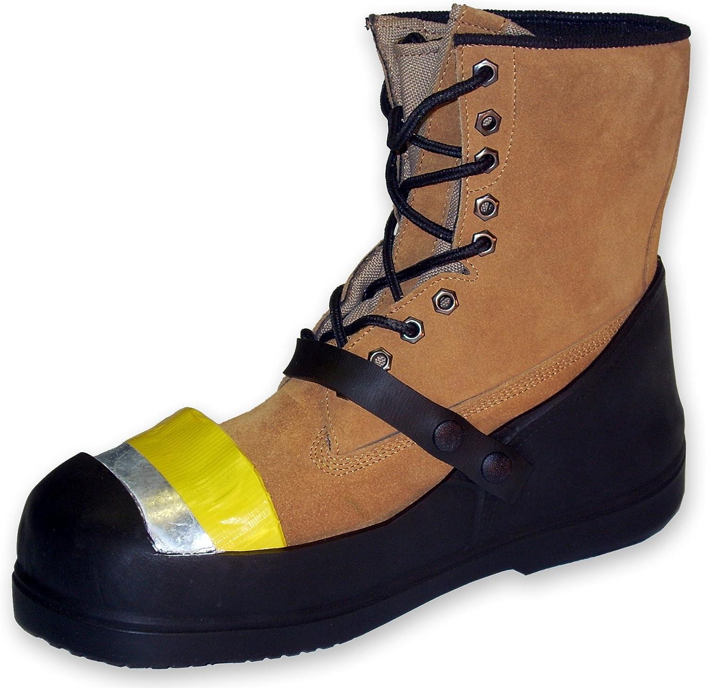 Sicherheit trots Gummi half-loafer Blitzschuhabdeckung mit Stahlkappe, Schwarz, XS, schwarz, 1