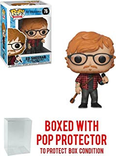 Funko POP! Rocks Ed Sheeran Action Figure (Bundled Pop Box Protector to Protect Display Box)