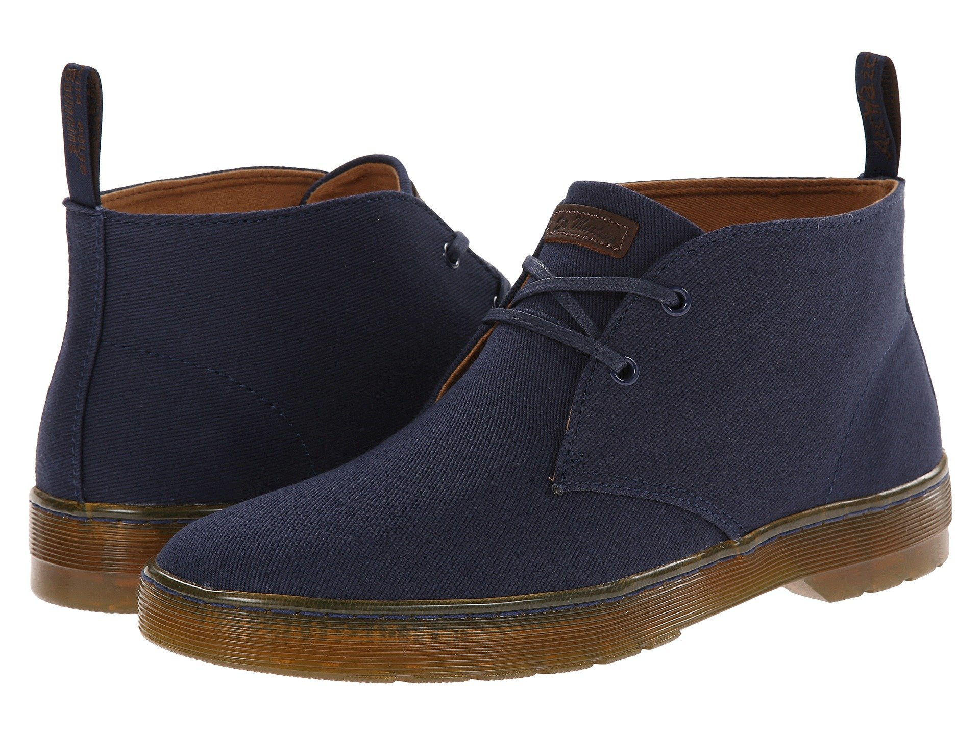 4ac74991048 Mayport 2-Eye Desert Boot, Navy Overdyed Twill Canvas