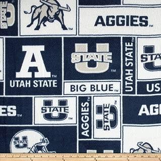 Sykel Enterprises Collegiate Fleece Utah State University Allover Fabric by The Yard, Multi