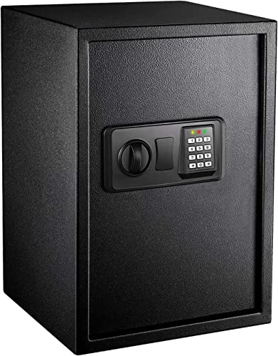 wholesale Safe Box 1.8 Cubic Feet Home Safe lowest Digital Lock Box with Instruction Light for Money 2021 Safe Cash Jewelry Passport Documents Gun Security-50SA online