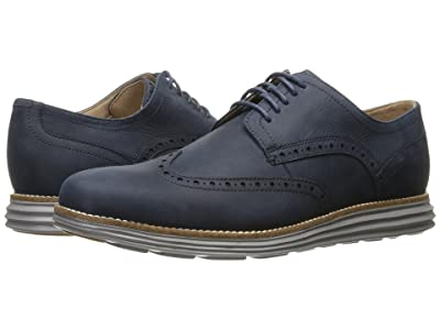 Cole Haan Original Grand Shortwing (Blazer Blue Leather/Ironstone) Men