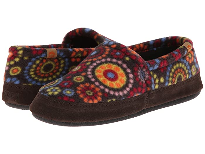 Acorn   Moc (Chocolate Dots) Womens Moccasin Shoes