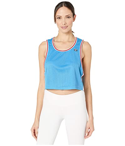 Champion Mesh Cropped Tank (Active Blue) Women