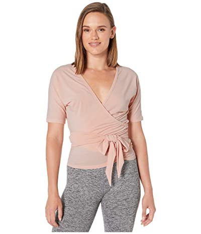 New Balance Balance Two-Way Wrap Top (White Oak Heather) Women