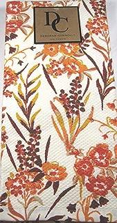 Deborah Connolly Autumn Floral Kitchen Tea Towel Set Multi Color 100% Cotton 18
