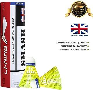 Li-Ning Smash Nylon Shuttle, Pack of 6