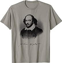 William Shakespeare Face Portrait Print First Folio Author T-Shirt