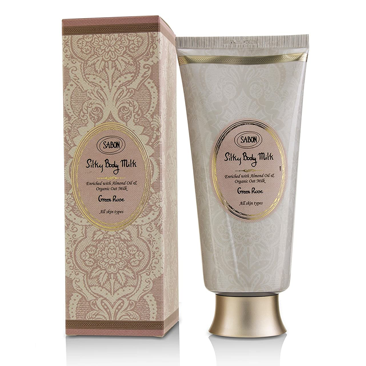 眉をひそめる息苦しいコーナーサボン Silky Body Milk - Green Rose 200ml/7oz並行輸入品