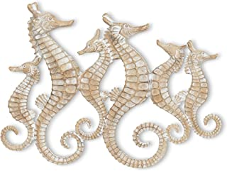 Abbott Collection 27-SEAHORSE-010 Seahorse Family Wall Decor, 16 inches L, Beige
