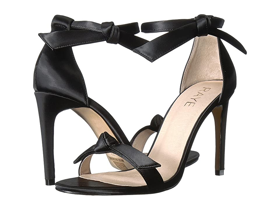 RAYE Haya (Black Satin) High Heels