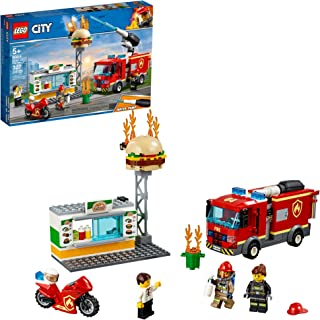 LEGO City Burger Bar Fire Rescue 60214 Building Kit, 2019 (327 Pieces) (Renewed)