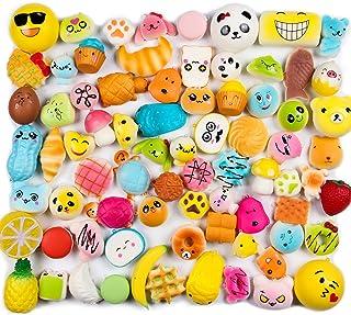 WATINC Random 10 pcs Squishy Cream Scented Kawaii Simulation Lovely Toy Medium Mini Soft Food Squishy, Phone Straps (10P Donuts)