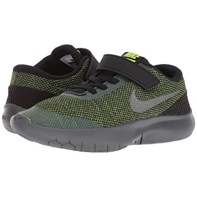 Nike Kids Flex Experience Run 7 (Little Kid) (Black/Metallic Dark Grey/Volt/Dark Grey) Boys Shoes