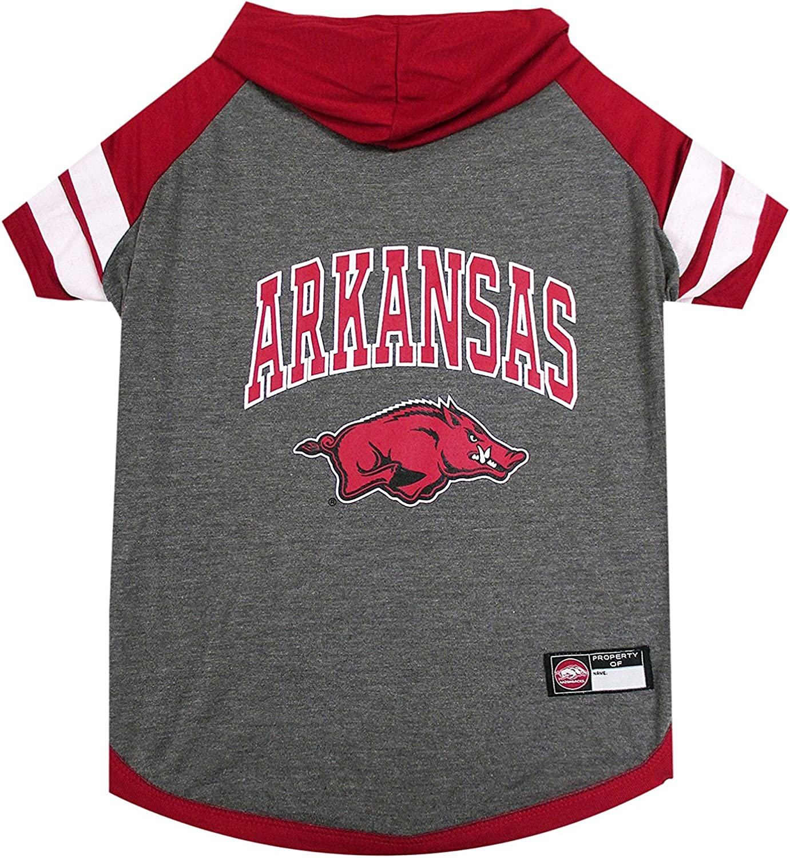 Arkansas Razorbacks NCAA Hoodie Dog Pet Tee TShirt (Large)