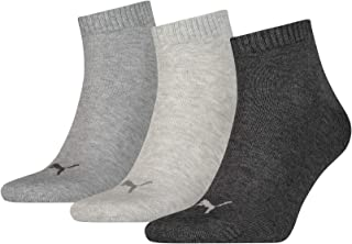 Puma Unisex Quarter Plain Socks (3 Pair Pack)