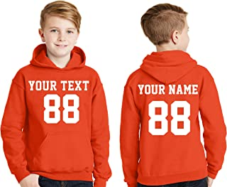 Custom Hoodies for Youth - Desing Your OWN Jersey - Pullover Hooded Team Sweaters