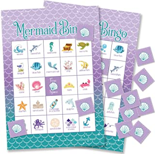 Mermaid Bingo Party Game for Kids - 24 Players