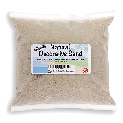ROCCIA 3 Pounds - Real Sand - Natural Color - for Interior Decor, Vase Filler
