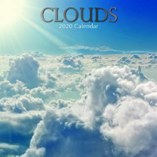 2020 Wall Calendar - Clouds Calendar, 12 x 12 Inch Monthly View, 16-Month, Includes 180 Reminder Stickers