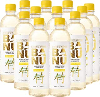 Sponsored Ad - Banu Oro Blanco light citrus tea flavored bamboo water contains silica to support healthy skin, hair, and n...