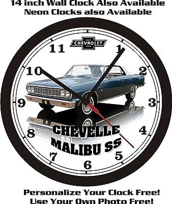 1964 CHEVROLET CHEVELLE MALIBU SS WALL CLOCK-FREE US SHIP-NEW!