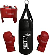 VELLORA Boxing Punching Kit with Gloves, Safety Head and Punching Bag for Kids