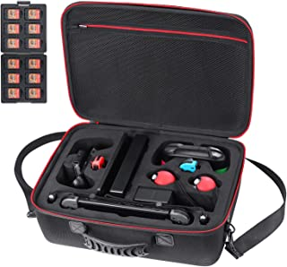 Zadii Hard Carrying Case Compatible with Nintendo Switch and Pokeball Plus, Travel Case fit Pro Controller and 2 Poke Ball Plus