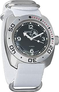 Vostok Amphibian Automatic Mens Wristwatch Self-Winding Military Diver Amphibia Case Wrist Watch #710919